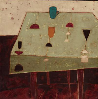 Table with Blue Cup