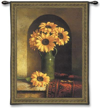 Sunflowers with Persian Rug
