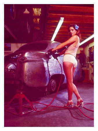 Pin-Up Girl: Street Rod Body Shop