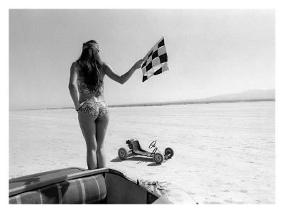 Pin-Up Girl: Salt Flat Checkerd Flag