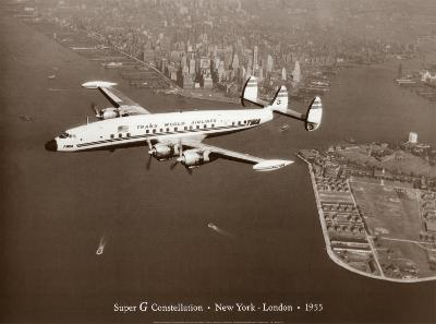 Super G Constellation, New York to London, 1955