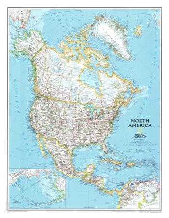 North America Political Map Prints at AllPosters.com