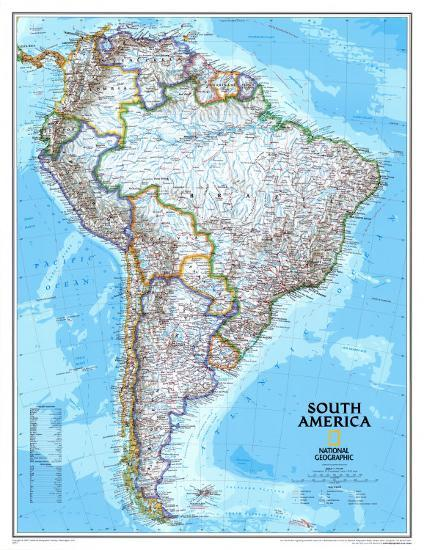South America Political Map Posters at AllPosters.com