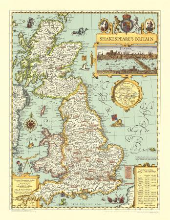 Map of Shakespeare's Britain