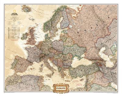 1940s Map Of Europe.Europe Political Map Executive Style Photo At Allposters Com