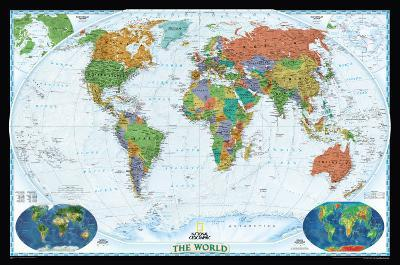 National Geographic World Political Map, Decorator Style Giant Poster