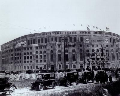 Yankee Stadium - outside/sepia - ©Photofile
