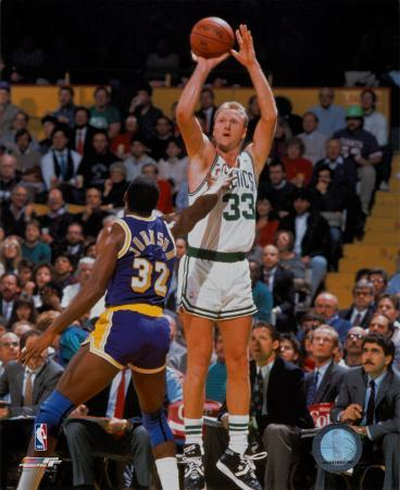 NBA Larry Bird and Magic Johnson