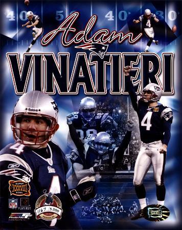 Adam Vinatieri - Super Bowl XXXVIII Champions Collection (Limited Edition) ©Photofile