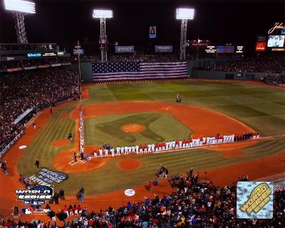 2004 World Series Opening Game - Nat'l anthem, Fenway Park, Boston ©Photofile