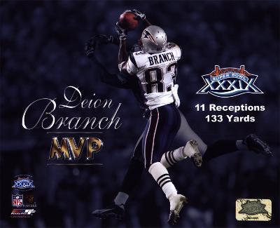 Deion Branch - Super Bowl XXXIX (MVP) - Catches record 11th pass