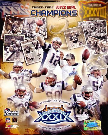 Patriots - 3 Time Super Bowl  Champions Composite