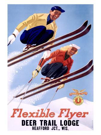 Deer Lodge Flexible Flyer Ski, c.1954
