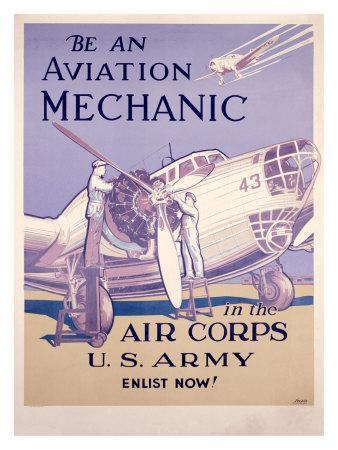 WWII, AAF Army Air Corps Aviation Mechanic