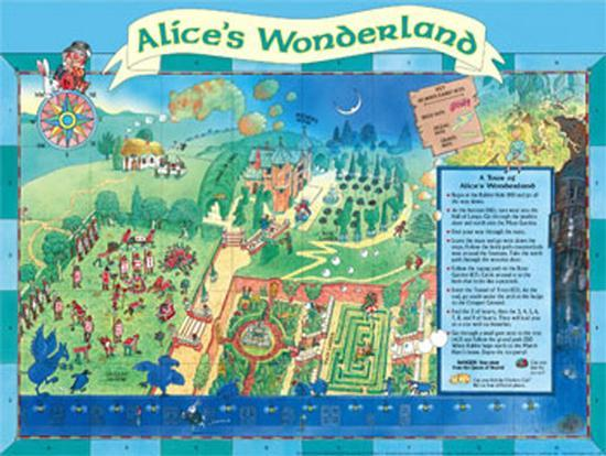 Alice In Wonderland Map Map of Alice's Wonderland Posters by Peter Joyce at AllPosters.com Alice In Wonderland Map