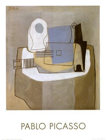 Guitar, Bottle and Fruit Bowl, c.1921