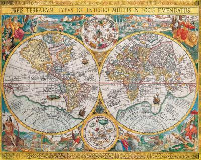 Antique Map, Orbis Terrarum, 1636