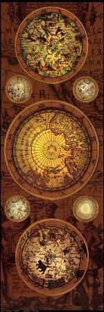 Antique Map, Orbis Geographica I