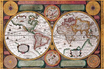 Antique Map, Terre Universelle, 1594