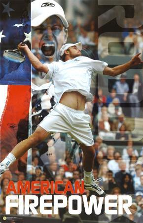 Andy Roddick Tennis Sports Poster