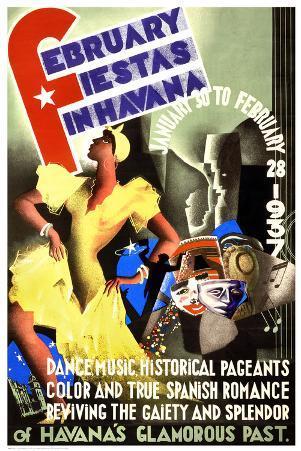 February Fiestas in Havana, 1937