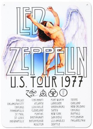 Led Zeppelin Us Tour 1977 Tin Sign At Allposters Com