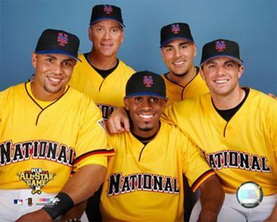 Carlos Beltran, Tom Glavine, Jose Reyes, Paul LoDuca and David Wright 2006 All Star Game