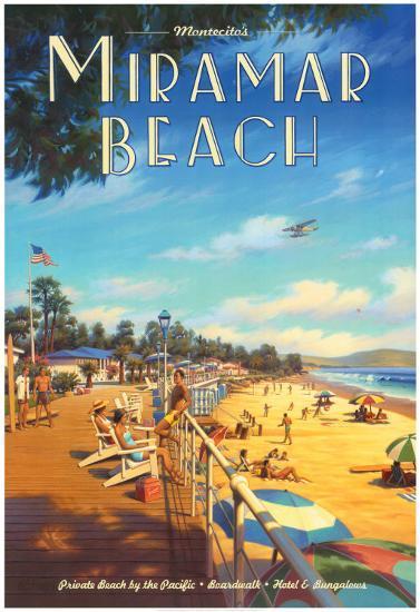 Miramar Beach, Montecitos Prints By Kerne Erickson At