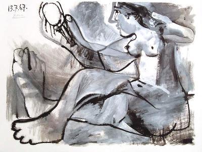 Akt mit Spiegel, 1967