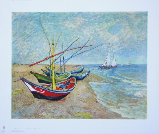 Old Fishing Boats On Beach: Fishing Boats On The Beach At Saints-Maries, C.1888
