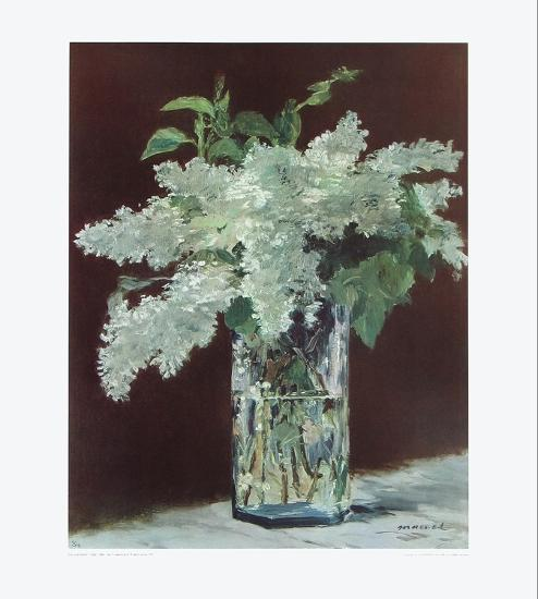 White Lilac In Glass Vase Collectable Print By Edouard Manet At