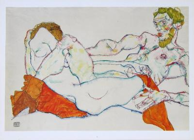 Entwined Reclining Couple, 1913