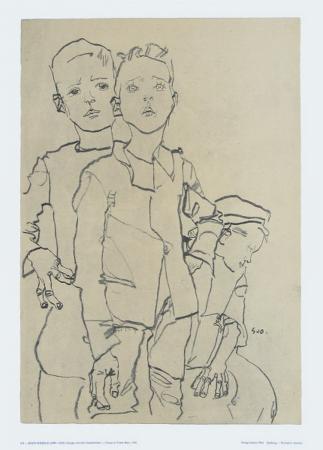 Group of Three Street-Boys, 1910