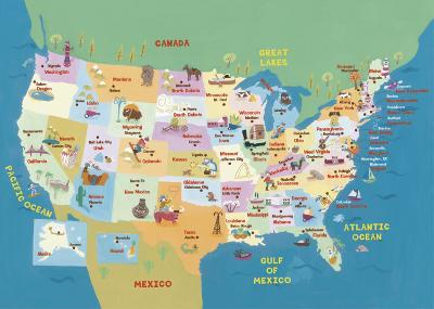 U.S.A. States and Capitals