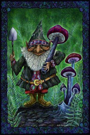 Gnome Mushroom Harvest
