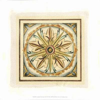 Crackled Cloisonne Tile I