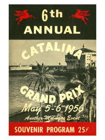 1956 Catalina Motocross Grand Prix Poster