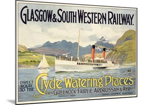 Vintage Glasgow SW Railway Clyde Holiday Resorts Railway Poster A3 Print