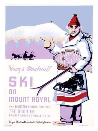 Canadian Mount Royal Ski Poster