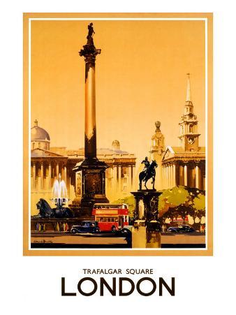 London, Trafalgar Square, 1948-1965