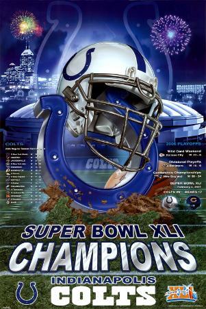 XLI Super Bowl Champions- Indianapolis Colts
