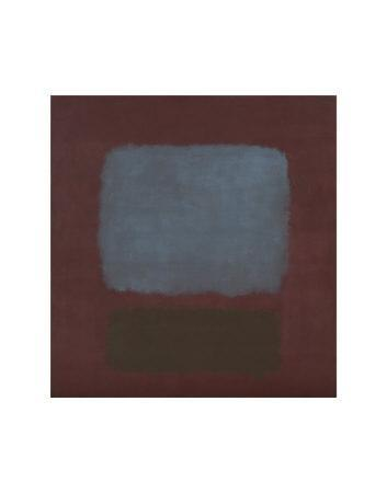 No. 37 / No. 19 (Slate Blue and Brown on Plum), 1958