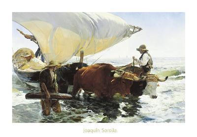 Retorno de la Pesca, Remolcando la Barca