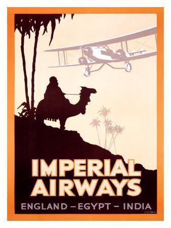 Imperial Airways, England-Egypt-India