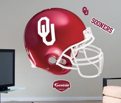 Oklahoma Sooners Helmet -Fathead