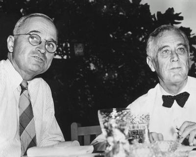 Harry Truman and Franklin D. Roosevelt