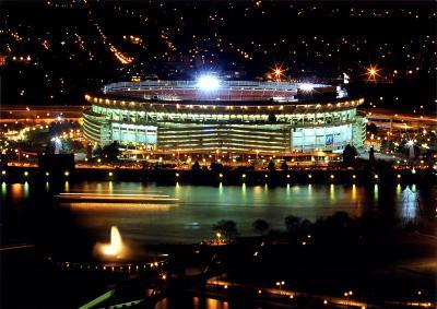 Three Rivers Stadium - Night Shot - ©Photofile