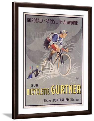 Bicyclette Gurtner Vintage Bicycle Poster Print by Mich Cycling