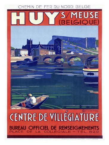 Belgium city huy giclee print at allposters