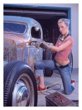 Ford Chop Top Workshop Pin up Poster